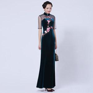 旗袍年轻款少女端庄大气复古连衣裙