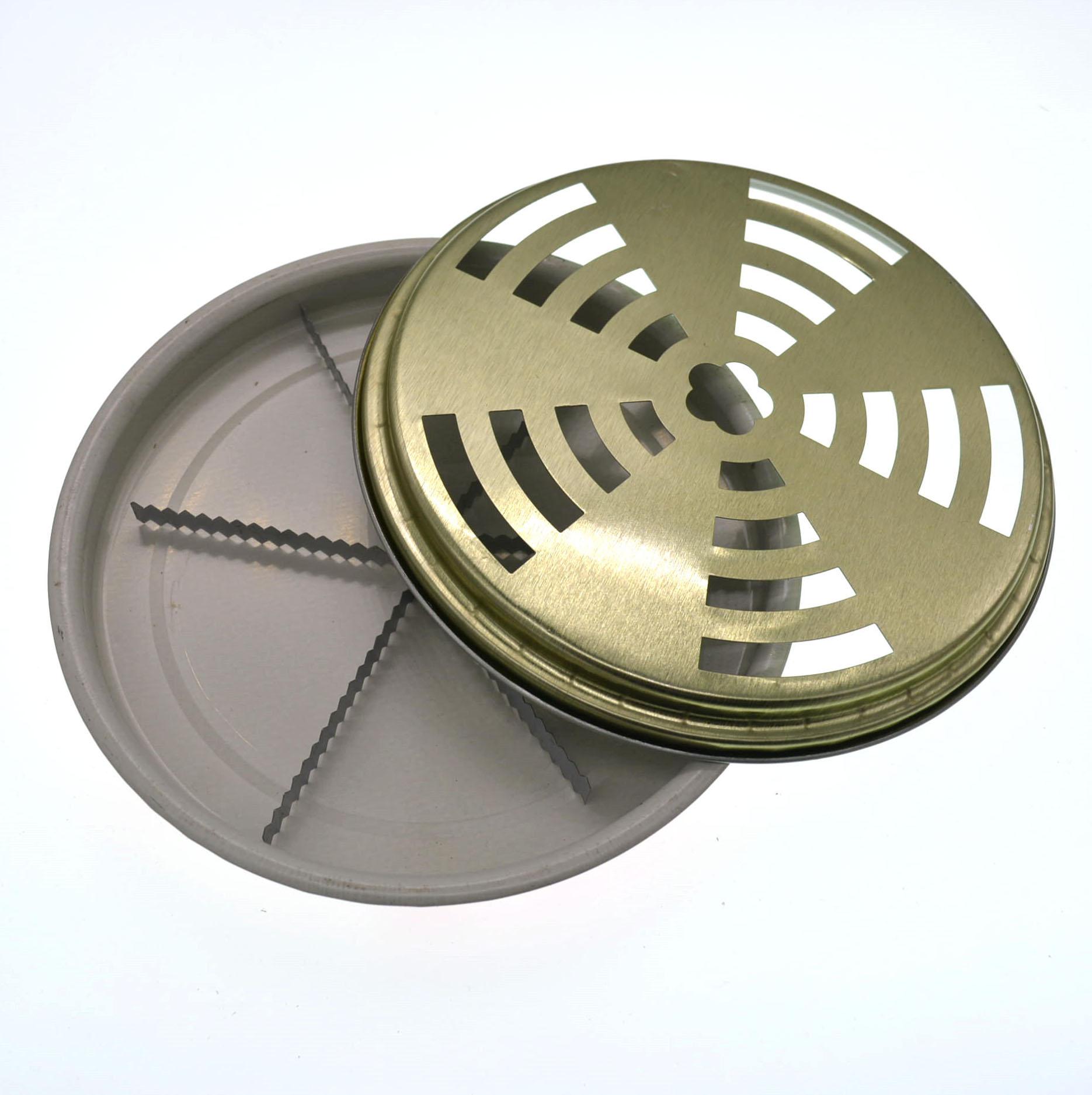 带盖子蚊香盘 铁质蚊香架 大号接灰盘  蚊香盒 蚊香托支架