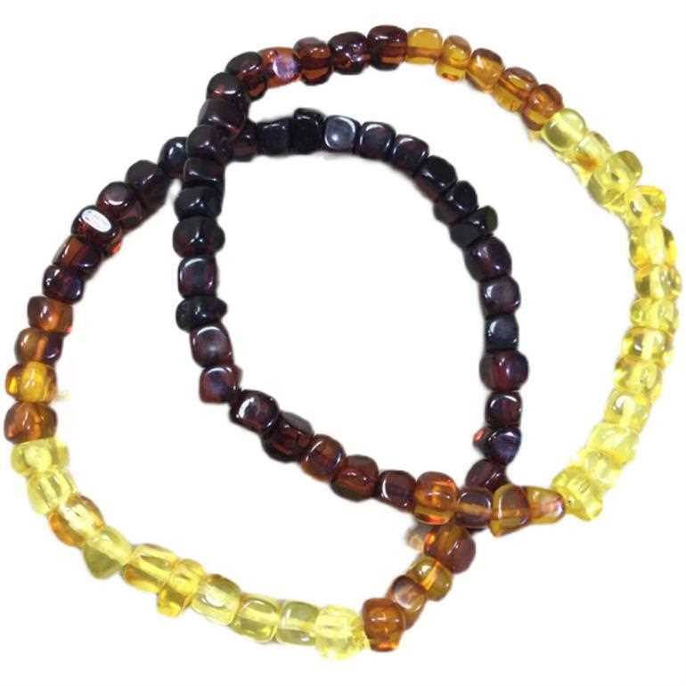 Natural beeswax gold Pok gradient diamond bead bracelet is suitable for DIY with womens Beeswax Amber Jewelry string