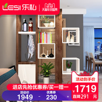 Le private modern simple living room Xuan Guan cabinet foyer cabinet double-sided partition cabinet decorative cabinets Wine cabinets Cabinets Screen Cabinets