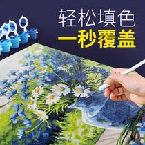 四月櫻花現代新中式簡美客廳臥室床頭裝飾畫蔡想明原創花卉油畫