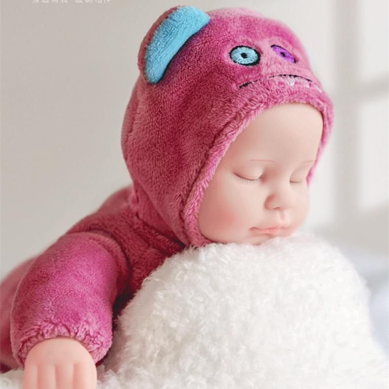 シミュレーション睡眠人形赤ちゃんの軟膏睡眠ぬいぐるみの女の子のぬいぐるみネット赤いぬいぐるみのおもちゃ
