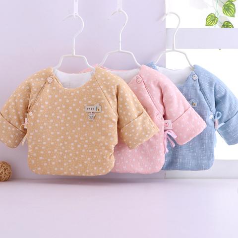 新生儿棉衣上衣婴儿衣服秋冬季纯棉加厚半背初生儿和尚服宝宝冬装