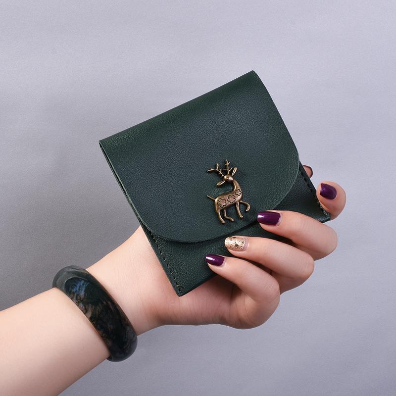 新款日韩超薄女士钱包女生个性韩版可爱小卡包学生按扣短款零钱夹图片