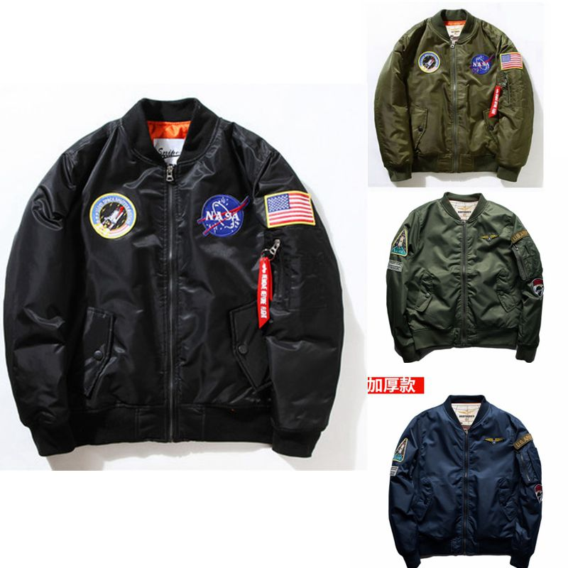 Chao brand autumn and winter Yokosuka Embroidered Baseball Jacket MA-1 pilot air force jacket mens large couple jacket Chao