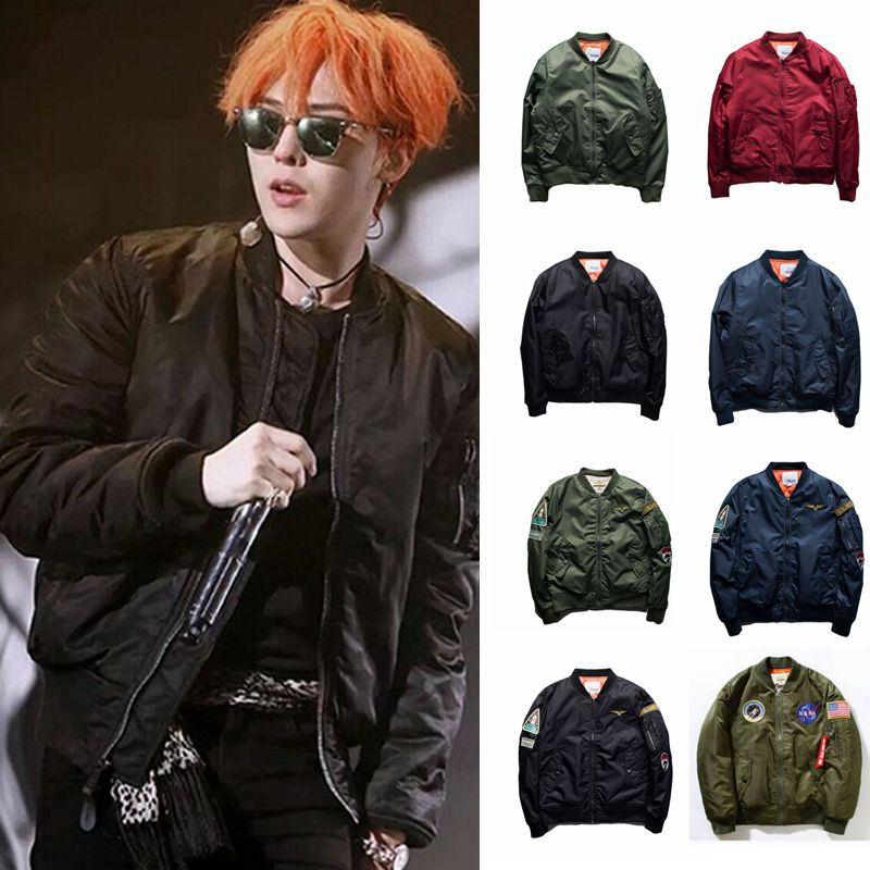 MA1 winter air force pilot jacket thickened jacket Japanese retro Yu wenle baseball uniform mens and womens cotton padded clothes