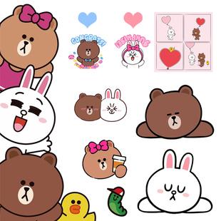 可愛熊可妮兔貼紙ins風牆貼貼畫壁紙 幼兒園兒童房可愛卡通牆貼紙
