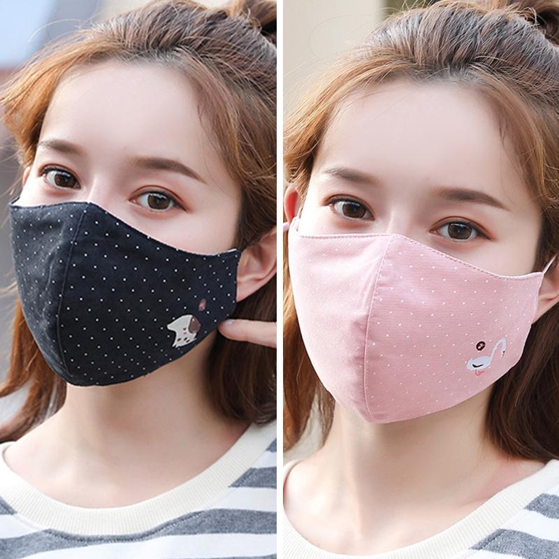 口罩女秋冬天保暖韩版可爱时尚个性潮冬季纯棉口罩防尘透气易呼吸