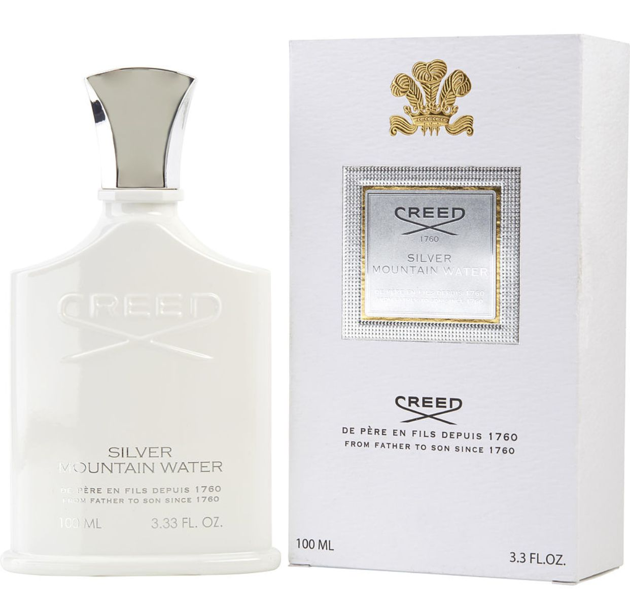 正品Creed Silver Mountain 信仰 银色山泉男士香水EDP 100ML