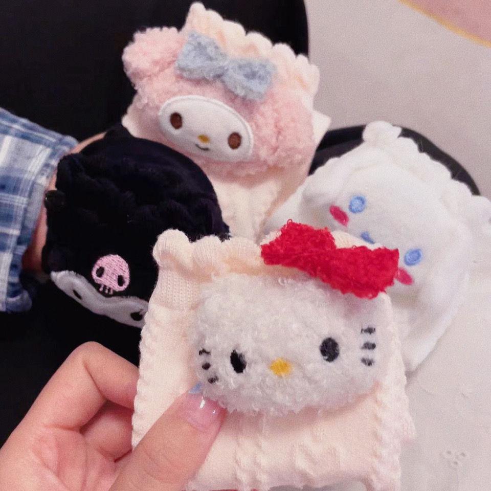 【品质冬款上新】三丽鸥kitty猫爱心袜子女新美乐蒂库洛米玉桂狗