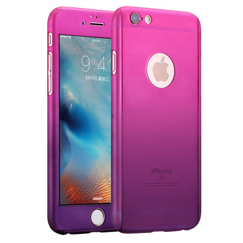 強電 蘋果6手機殼iphone6s套全包漸變硬殼6plus 女款潮男