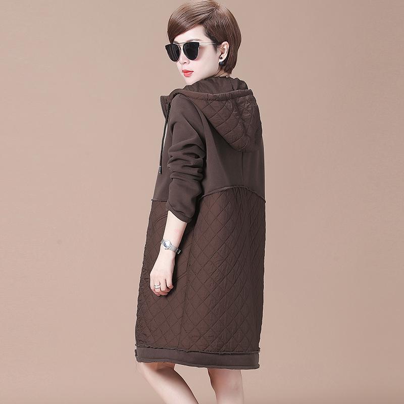秋比秋冬2018新款棉衣外套中长款女装韩版宽松显瘦薄款外套女上衣