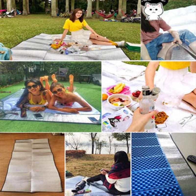 铝膜防潮垫野餐垫野餐布草坪垫子户外便携加厚家用野炊地垫露营,可领取1元天猫优惠券