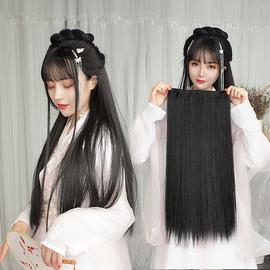 古装汉服长直发假发片 假发女一片式古风造型直发片 隐形无痕长发图片