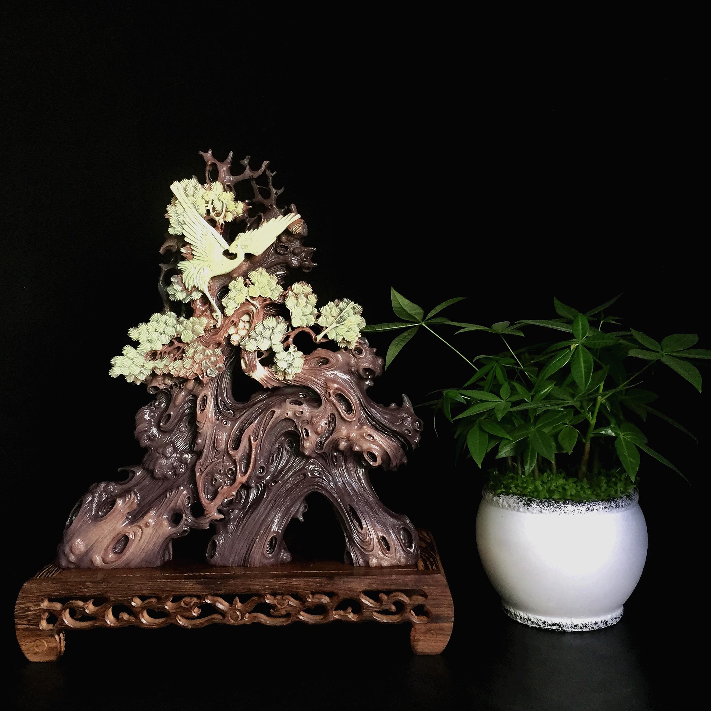 紫袍玉带石摆件手工雕刻工艺品家居饰品书房客厅中式玄关高档礼品