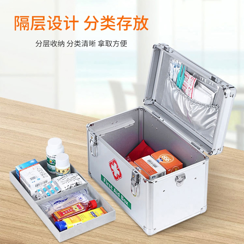 Medical kit set, household full set, portable, outdoor medicine carrying large first aid kit, commonly used, including supplies, medicine, large capacity