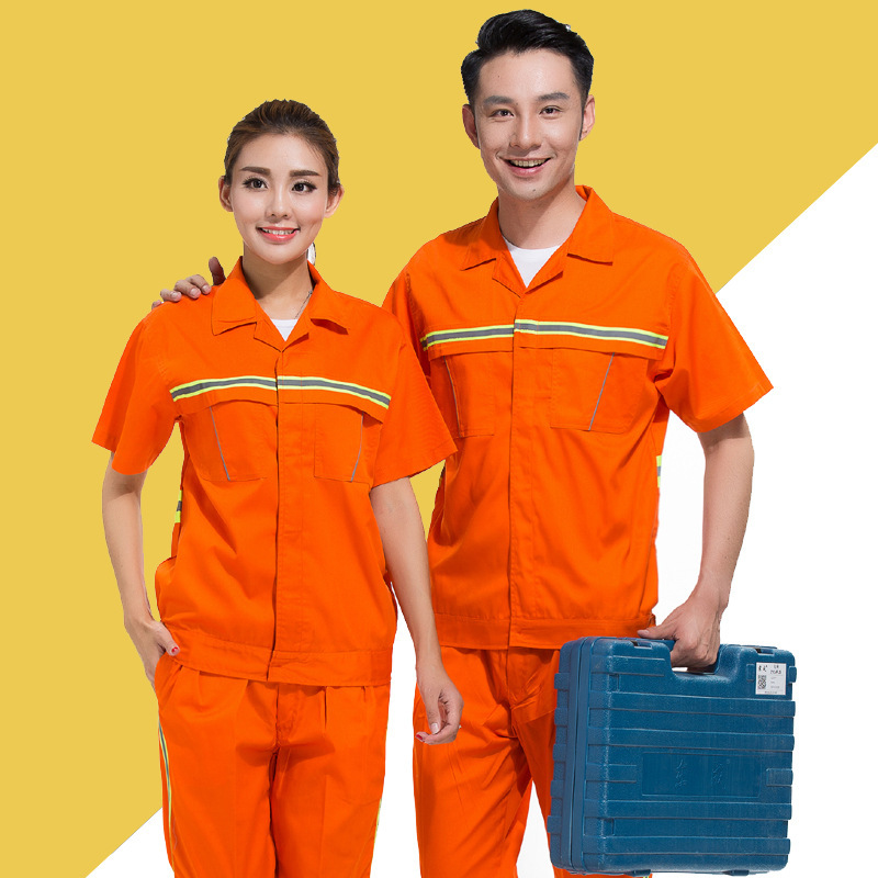 Road maintenance worker uniform half sleeve summer clothes road and bridge construction site construction clothing railway engineering supervision clothing electrician