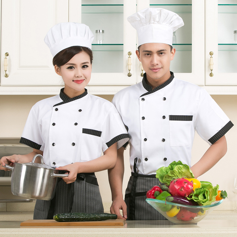 Bakery uniform cake shop tooling decorator clothes hotel kitchen chef work clothes half sleeve summer suit