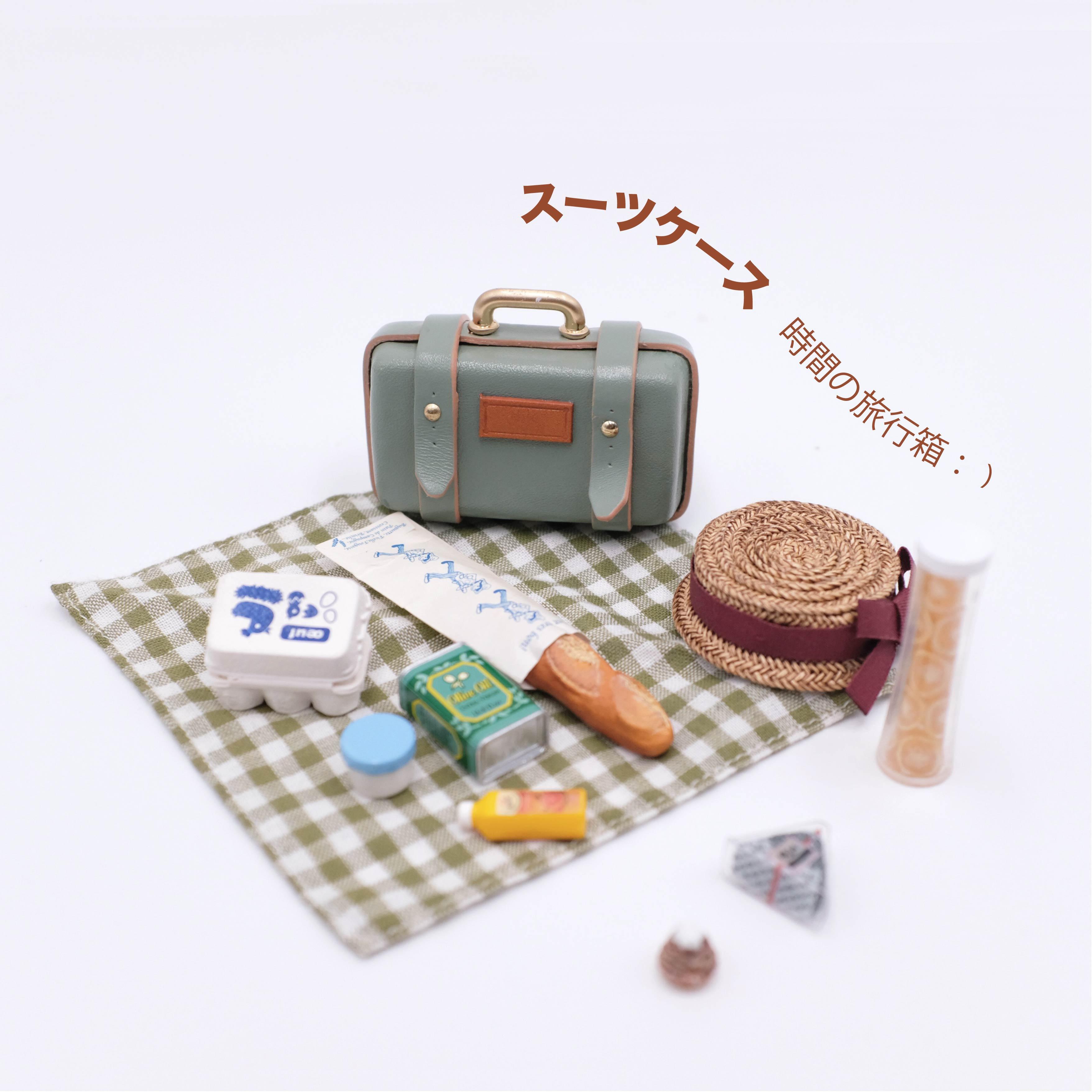1/6 blythe 1/8ラバーバッグ6点bjd人形通用azoneバッグob小さい布はスーツケースを持ちます。