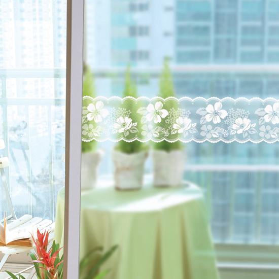 蕾丝玻璃窗户镜子装饰贴纸玻璃门防撞条腰线贴警示贴纸玻璃贴膜