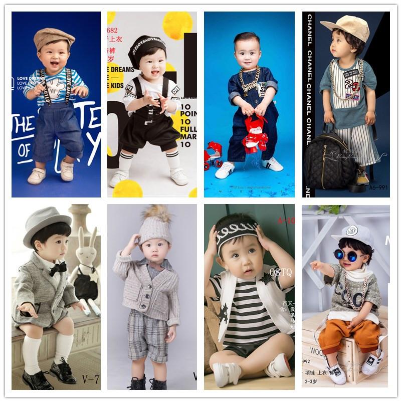 男宝宝周岁拍照服装女孩1-2岁儿童照相衣服摄影写真艺术影楼服饰