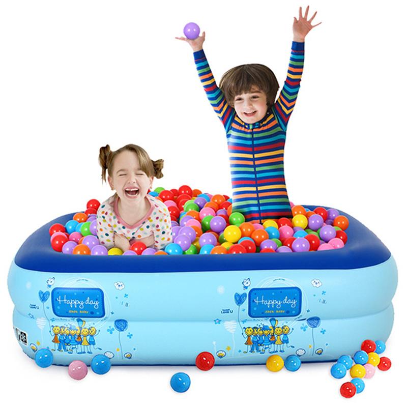 寶寶海洋球池圍欄充氣小女孩遊戲屋室內彩色波波球池嬰兒童玩具池