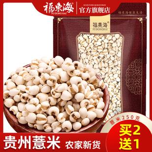 买2送1福东海小薏米贵州薏仁米薏苡仁五谷杂粮农家新货薏米仁500g