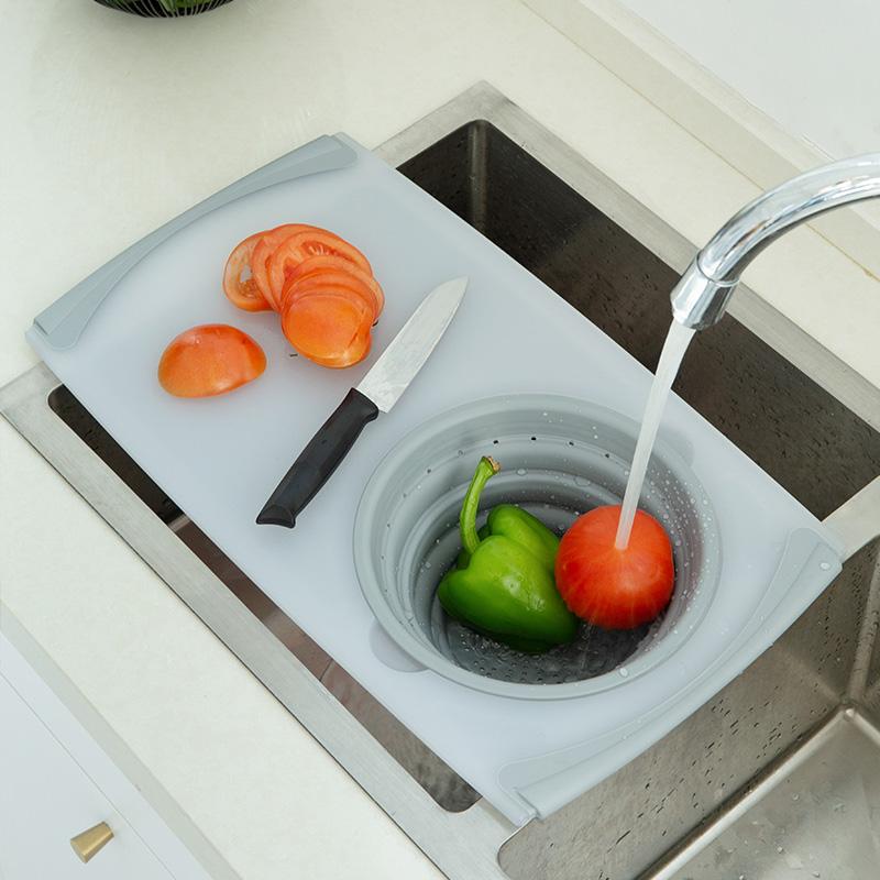 折叠菜板洗切二合一沥水槽家用案板水果蔬菜砧板塑料创意防抗菌霉