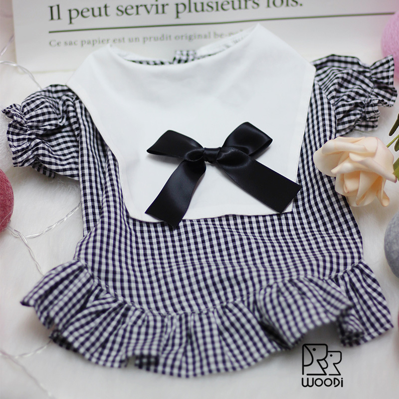 Woodi little dog clothes spring summer Princess retro shirt skirt Teddy Bomei small and medium sized dog pet clothes