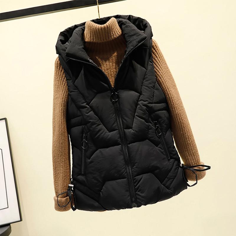 Down cotton vest womens short slim shoulder shoulder jacket versatile jacket for autumn and winter new winter vest 2019