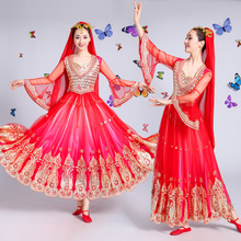 New Xinjiang Uygur Dance Performance Costume Female Minority Stage Performance Costume Opening Dance Dress