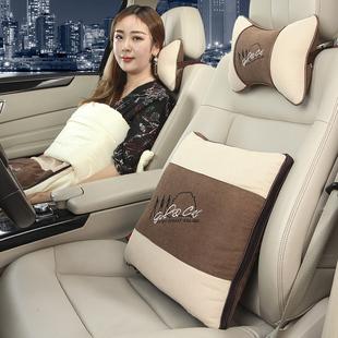 汽车抱枕头枕两用抱枕被一对车载车用靠背空调被靠枕车内后排抱枕