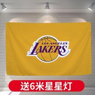 NBA球队logo队徽队标背景布篮球挂布卧室床头男生宿舍装 饰挂毯