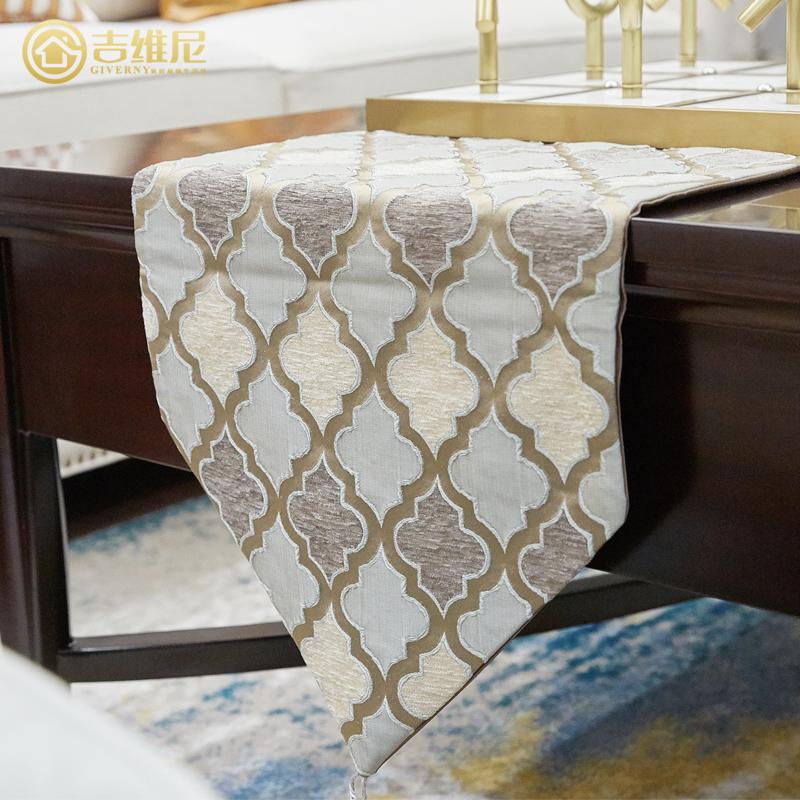 电视柜餐桌桌旗轻奢欧式美式简约现代中式样板间电视柜茶几桌布