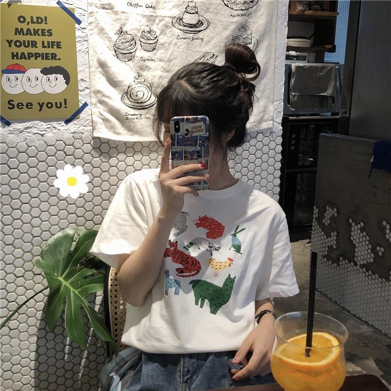 泫雅风古着感少女t恤港味黑暗系上衣酷潮心机设计感欧货大版洋气(用150元券)