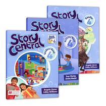 包邮原版英国麦克米伦Story Central4级别套装少儿小学英语教材含书本 练习册 故事书 学生账号故事性教材书籍日常生活主题词汇