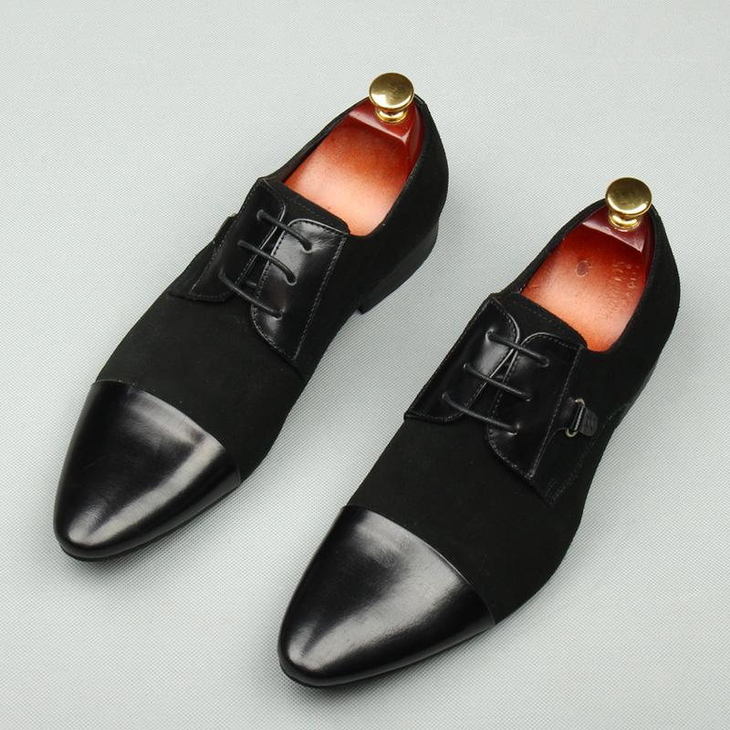 特价清仓男士英伦摩登型男时尚拼接潮流男鞋真皮正装商务皮鞋潮