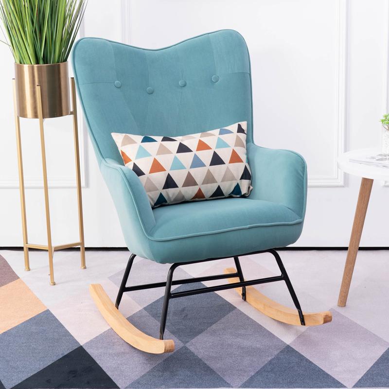 北欧单人沙发躺椅摇摇椅逍遥椅ins客厅卧室阳台拉扣休闲午睡懒人