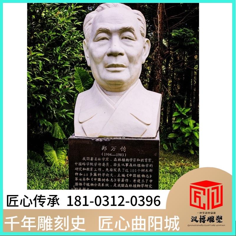 Forestry scientist, forest botanist, educator, Zheng Wanjun, celebrity bust, making outdoor sculpture of lawn Park