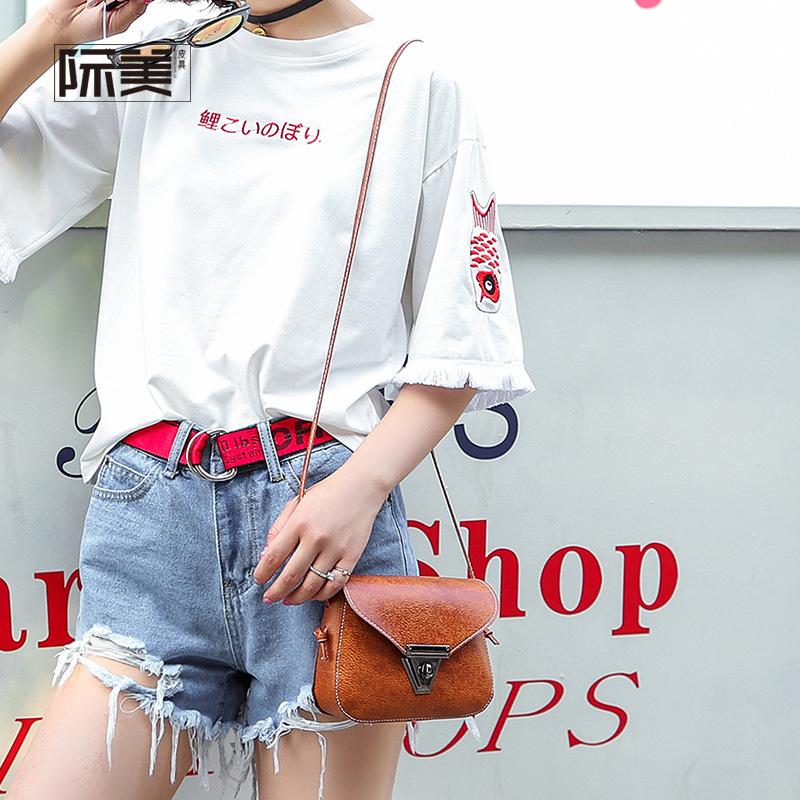 经典时尚女包包邮差包锁扣大牌单肩斜挎包奢侈品装手机小物件小包