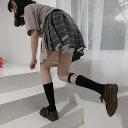 防滑吊带袜jk袜子小腿袜夹腿环性感袜扣cos特工袜暗黑日系中筒袜