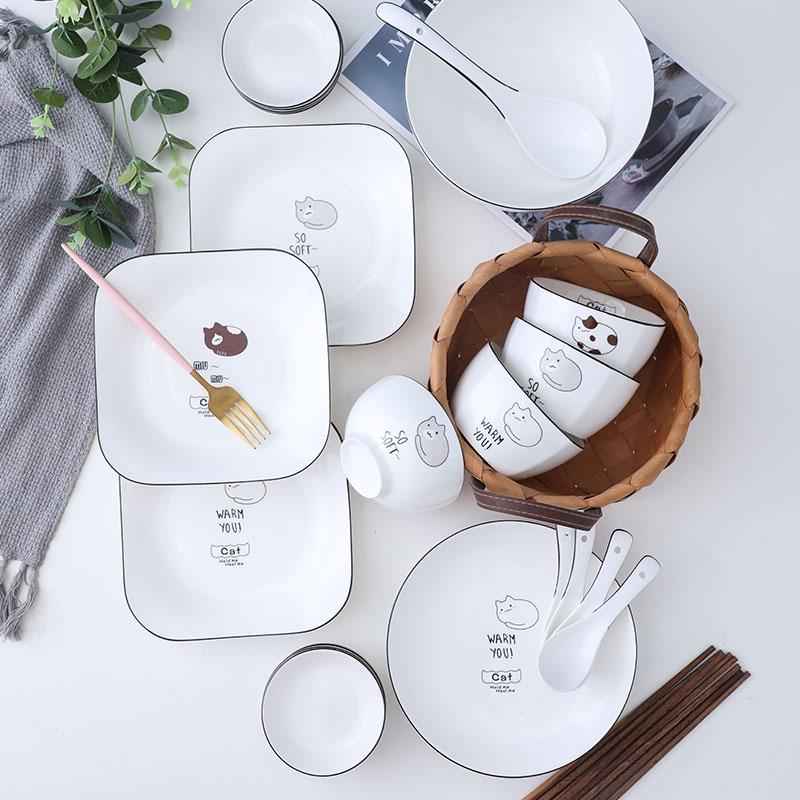 创意陶瓷家用套装6人食餐具碗碟