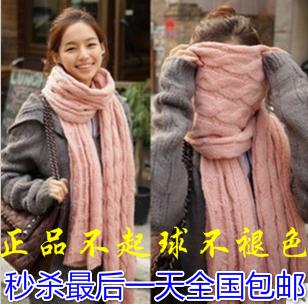 Пакет почтовый твист шарф длинный толстый шерстяной шарф женщин Корея, вязание Шарфы шарф держать теплой осенью и зимой шаль