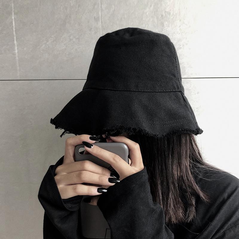 韩国ins原宿风暗黑系大帽檐渔夫帽(非品牌)