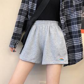 休闲运动短裤女夏宽松薄款裤子2020年夏季新款高腰纯棉外穿阔腿裤