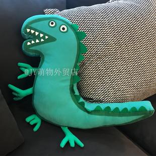 乔治恐龙先生单面毛绒玩具小猪同款抱枕男孩玩偶公仔宝宝节日礼物