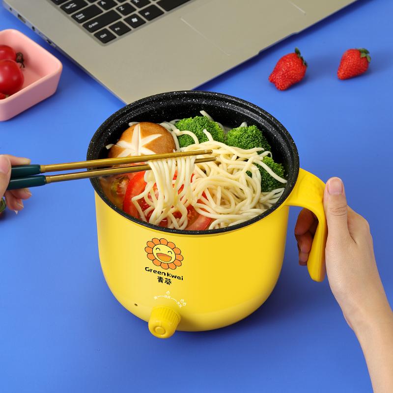 不锈钢煮泡面碗带盖单个宿舍学生上班族保温插电加热充电小型神器