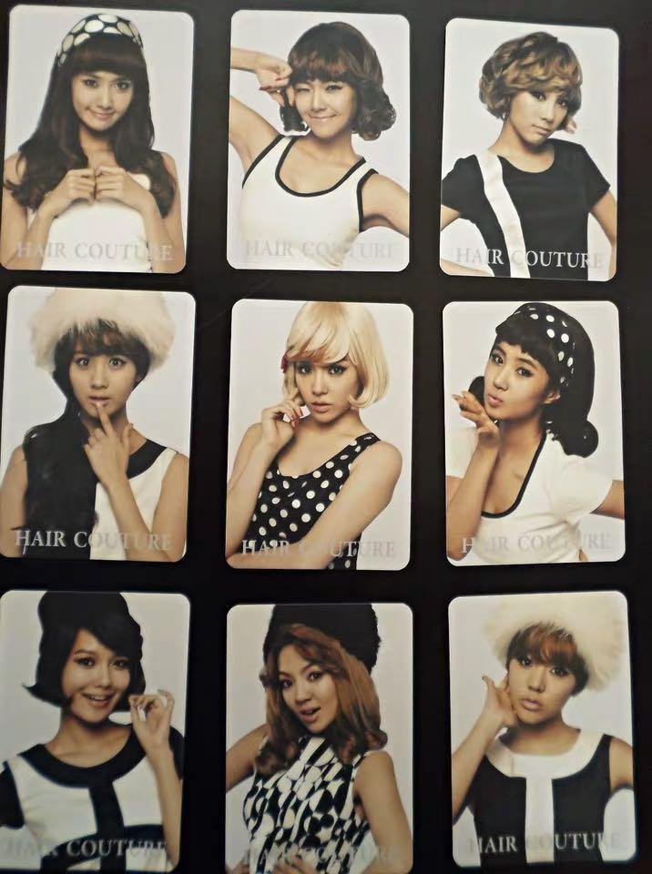 少女时代卡片Hoot黑白卡片1张包邮