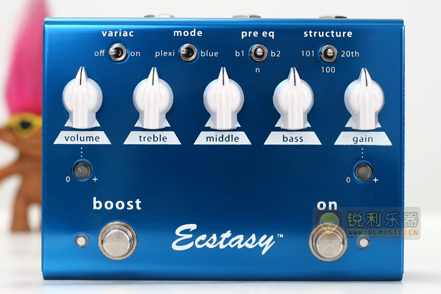 【Bogner Ecstasy Blue】双通道 Crunch 过载效果器【锐利乐器】