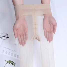 5双装3d丝袜超薄隐形脚尖全透明香港大码女低腰无痕连裤袜T裆加裆